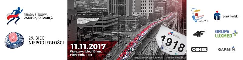 Bieg Niepodległości 2017 - top