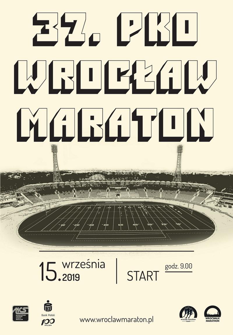 plakat 37 pko wroclaw maraton
