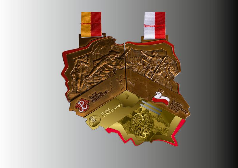 triada medal wizualizacja