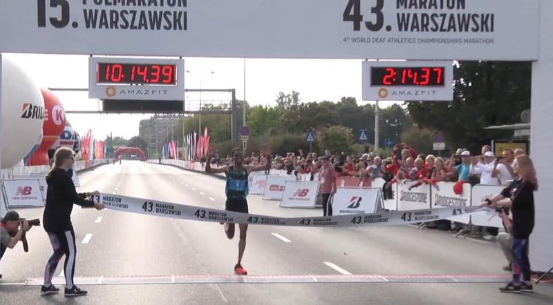 yared 43 maraton warszawski